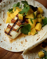 Phoebe Lapine_Grilled Fish Tacos with Mango Salad_HiRes