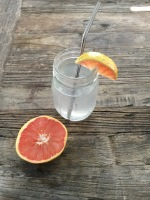 march tip:  add ruby red grapefruit to water
