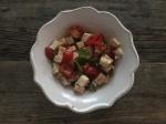 jersey tomatoes, basil & tofusalad